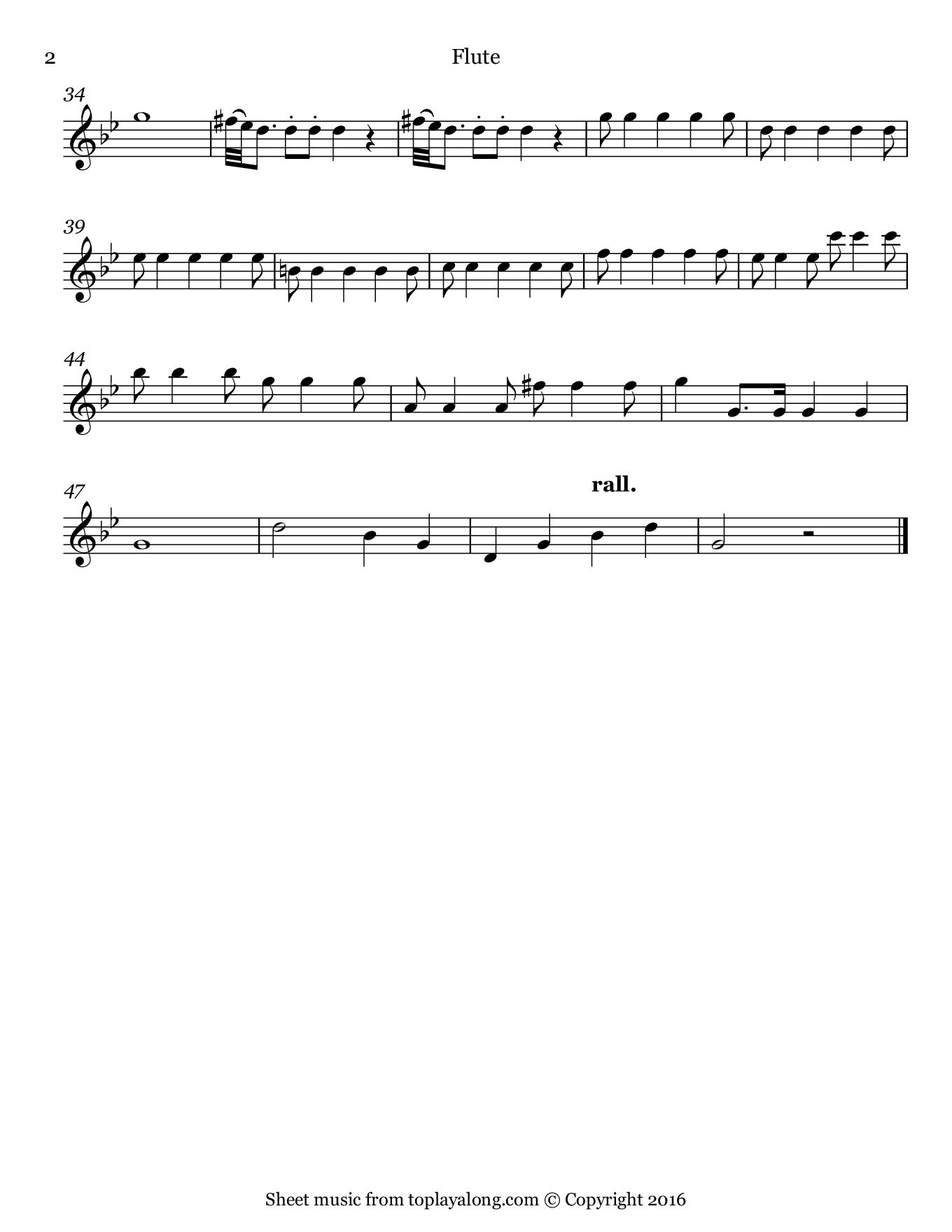 Symphony No 25 In G Minor K 183 Theme By Mozart Sheet Music For Flute Page 2 G Minor Sheet Music Mozart