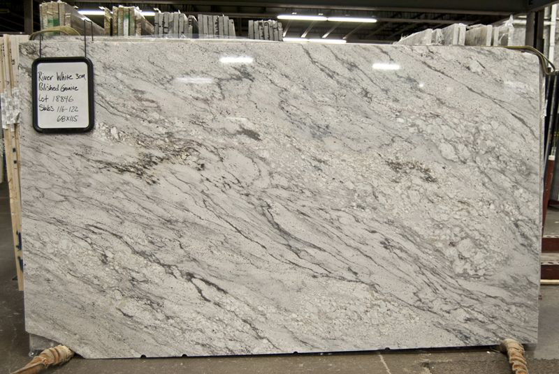 River white granite on pinterest quartz kitchen for Granite countertops colors price