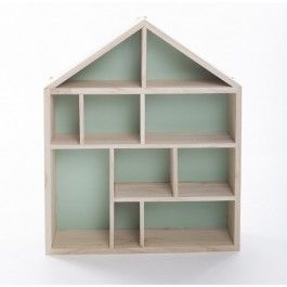 The shadow box house shelf is the latest decorative display shelf to be added to our gorgeous collection of kids display shelves.  The shelf is created from natural timber and painted mint green on the inside for a stunning contrast. The shadow box features features different sized sections, which are just perfect for storing your little ones trinkets and treasures. Dimensions of the decorative house shelf are:42cm (H) 34cm(W) 8.5cm (D)