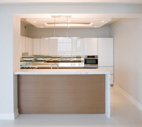 Contemporary Condo Kitchen::Deb Reinhart Interior Design Group:: Modern  Minimal Sleek White