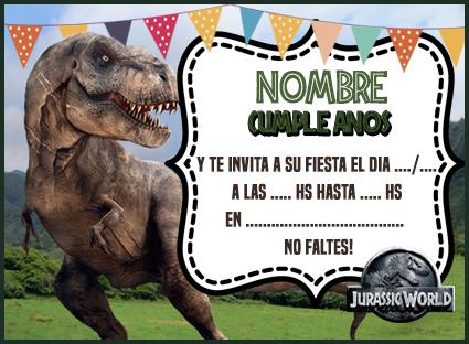 Invitacion Jurasic Park Candy Bar Jurassic World
