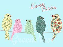 Neu A3 Format - Love Birds Poster
