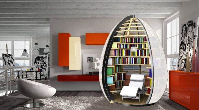Stylish Modern Creative Unique Bookshelf Design