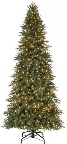 10 ft tall artificial christmas tree 900 led clear lights prelit realistic decor