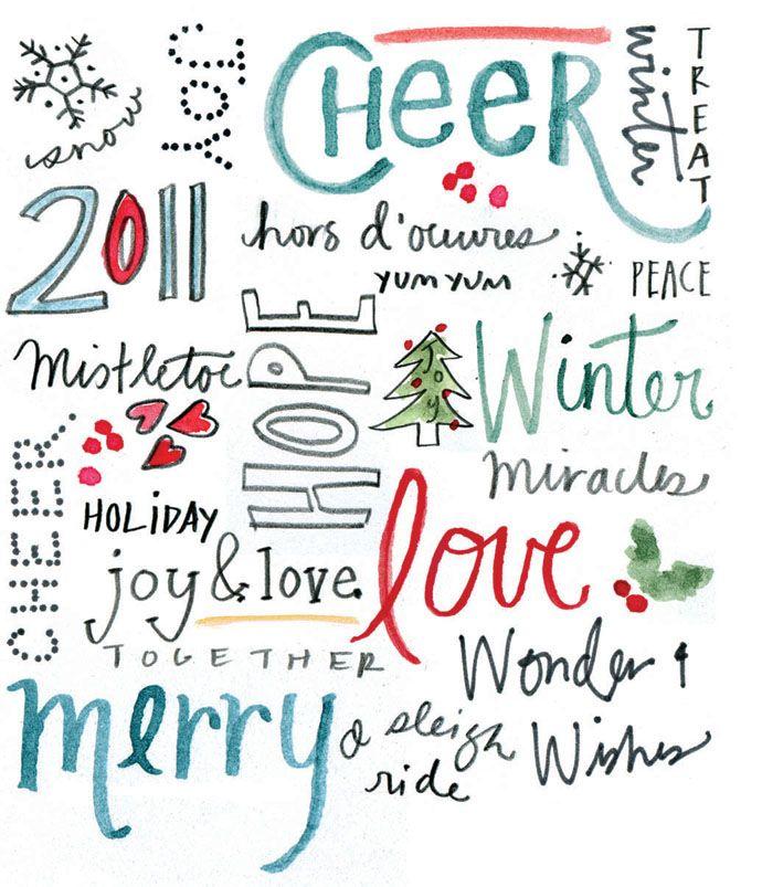 Christmas words {christmas} Things To Make  Do Pinterest
