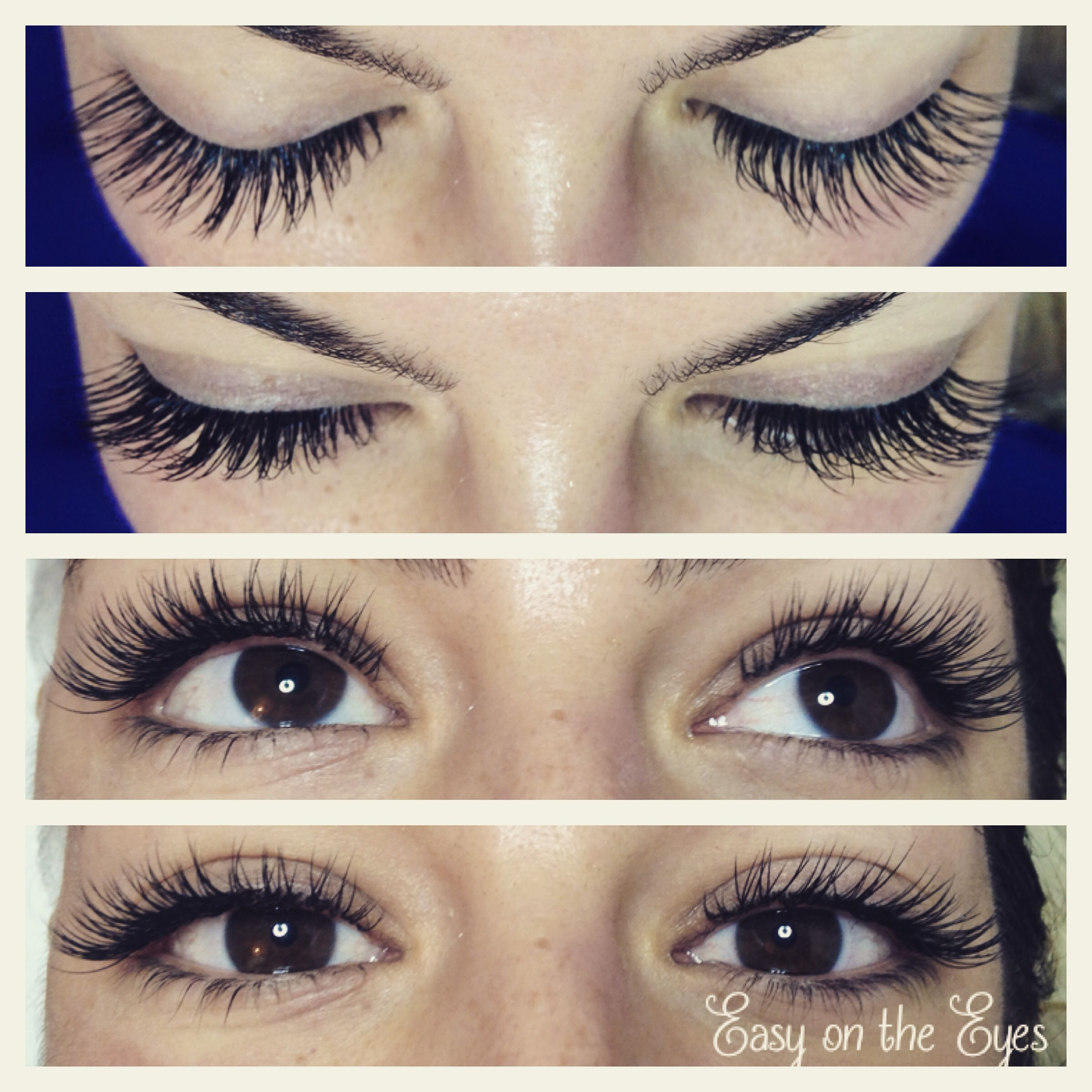 Eyelash extensions before and after would be great for