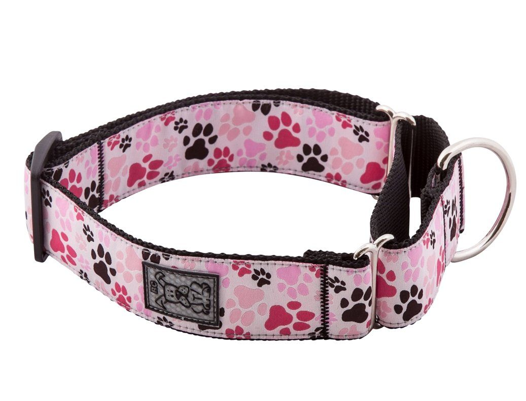 Rc Pet Products 1 1 2 Inch All Webbing Martingale Dog Collar Large Pitter Patter Pink Martingale Dog Collar Dog Collar Martingale