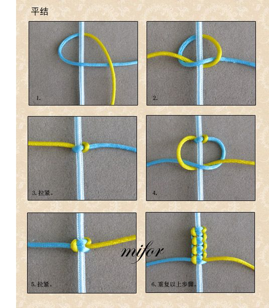 Square knot bracelet you can o it with embroidery thread