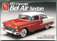Amt 1955 Chevy Bel Air 2 Door Sedan Stock Model Cars Kits