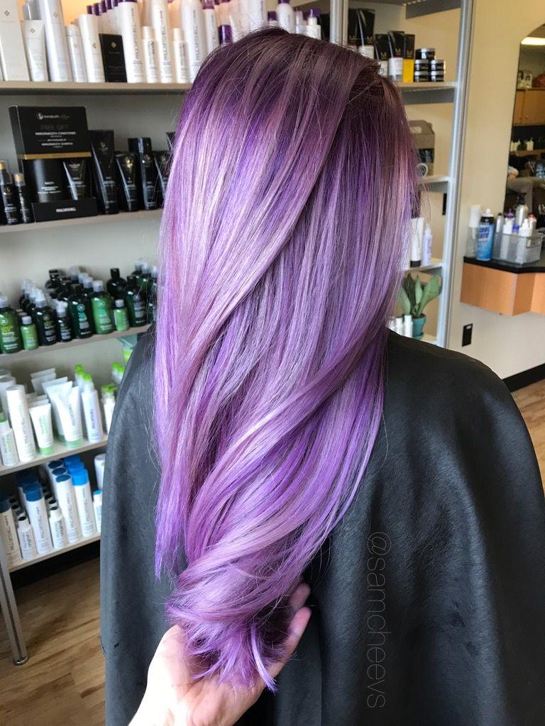 Purple Ombr Deep Plum Eggplant Purple Vibrant Pale