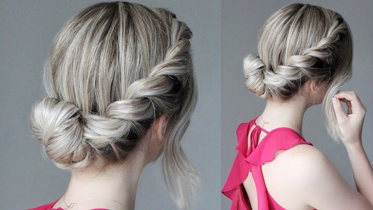 How To Easy Updo French Rope Braid Youtube Rope Braided Hairstyle Easy Updo Hairstyles Braided Hairstyles Updo
