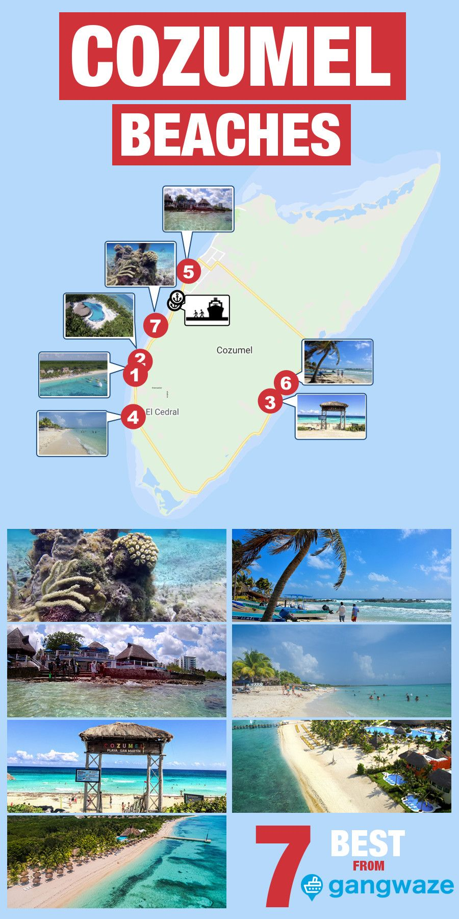 7 Best And Free Beaches Near Cozumel Cruise Port With Images