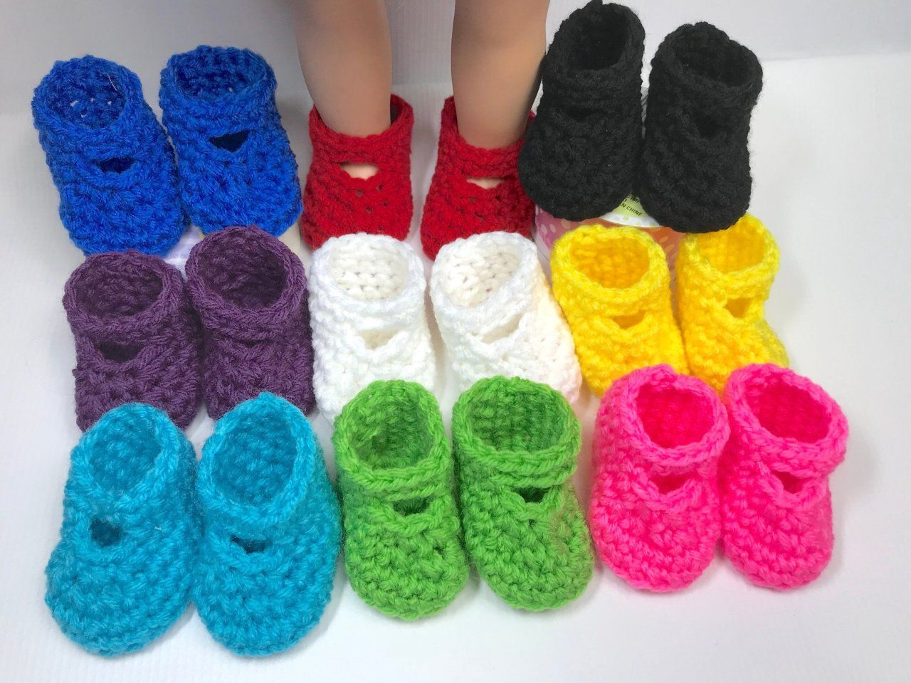 Crochet 18 Free Doll Shoe Pattern - Adoring Doll Clothes Posts