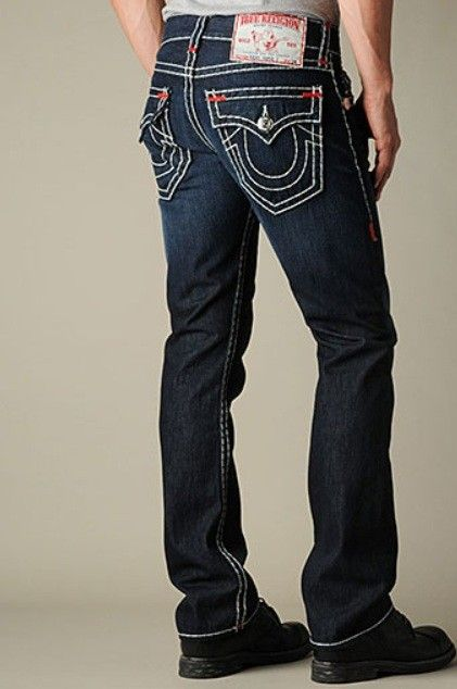 9bda7a980 True Religion Ricky Super T Straight Mens Jean