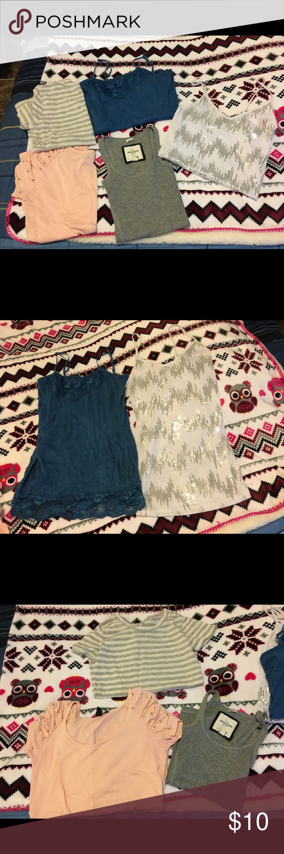 Lot of 5 shirts Different brands all in good condition and fit XS/Small. Tops