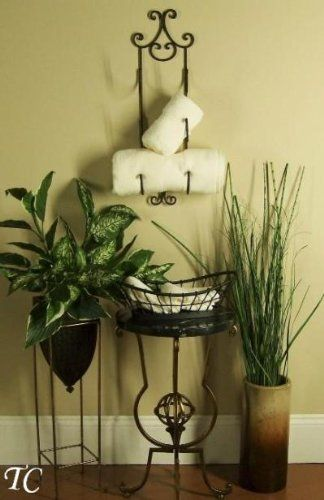 Wine Rack Used As A Towel Holder For The Home
