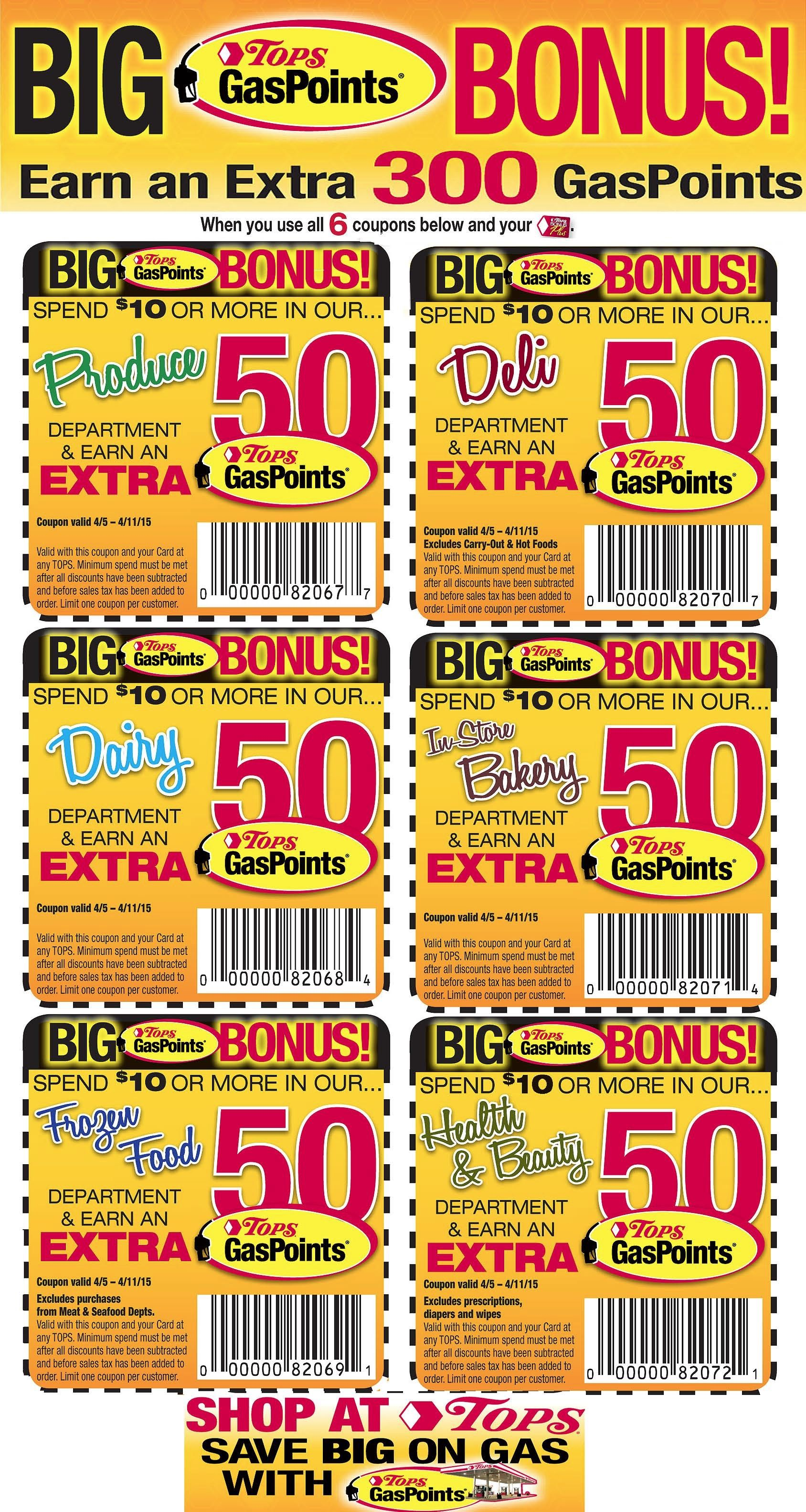 image regarding Printable Gas Coupons identify Tops Discount coupons in the direction of Print in this article: Get paid an far more 300 Fuel Reward
