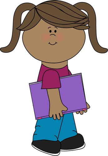 Girl with a school book from MyCuteGraphics | School Kids ...