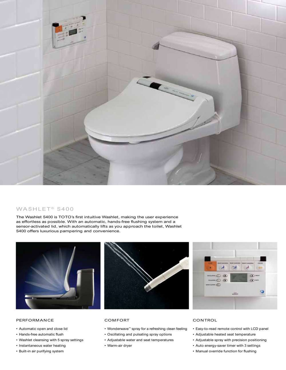 Toto Washlet Performance Toilet | Toto USA Toto Washlet_2009_2 ...