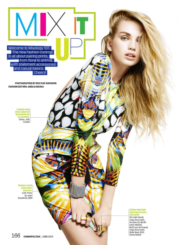 Diana Khullina by Eric Ray Davidson for Cosmopolitan US June 2013