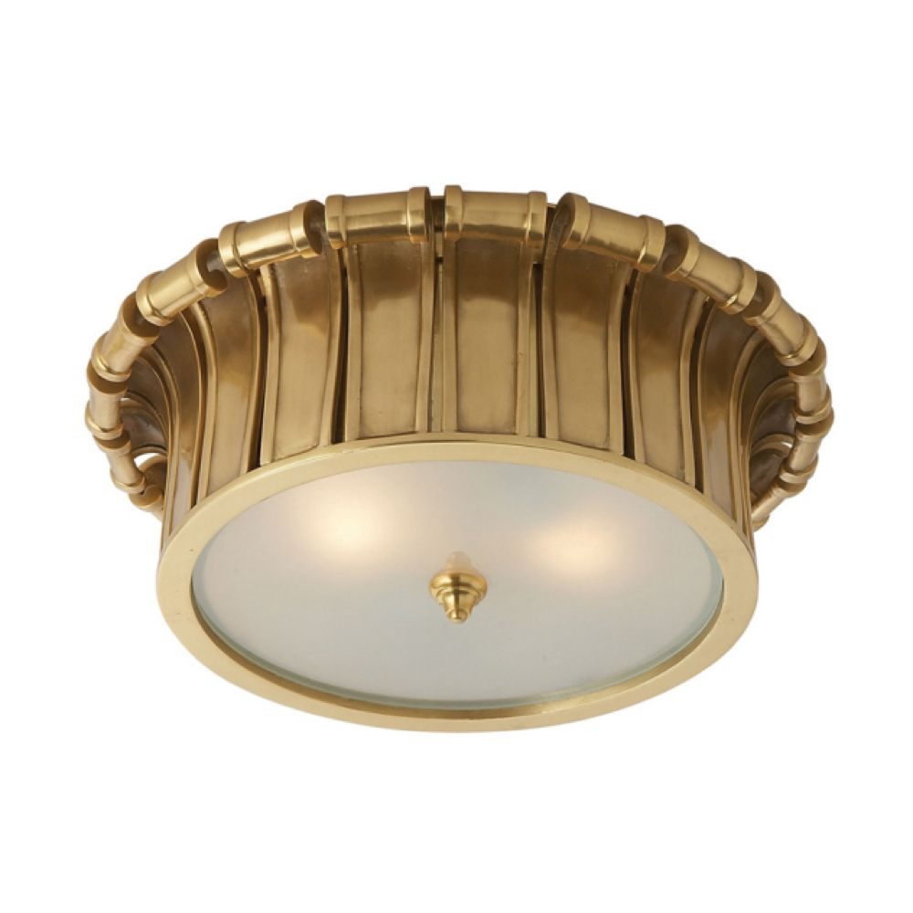 Visual Comfort Alexa Hampton Vivien Flush Mount In Natural Brass With Frosted Glass Ah4010nb Fg Visual Comfort Lighting Visual Comfort Alexa Hampton