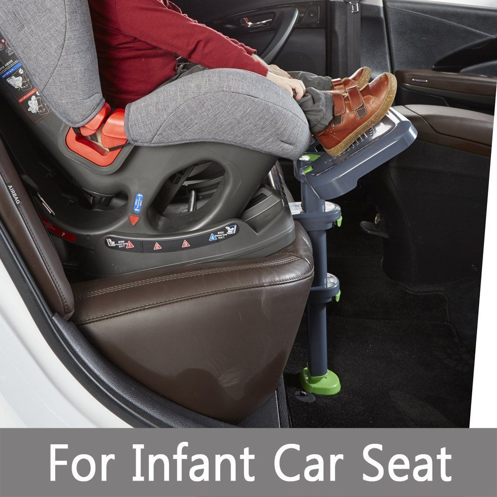 KneeGuardKids3 Car Seat Footrest Booster Grey