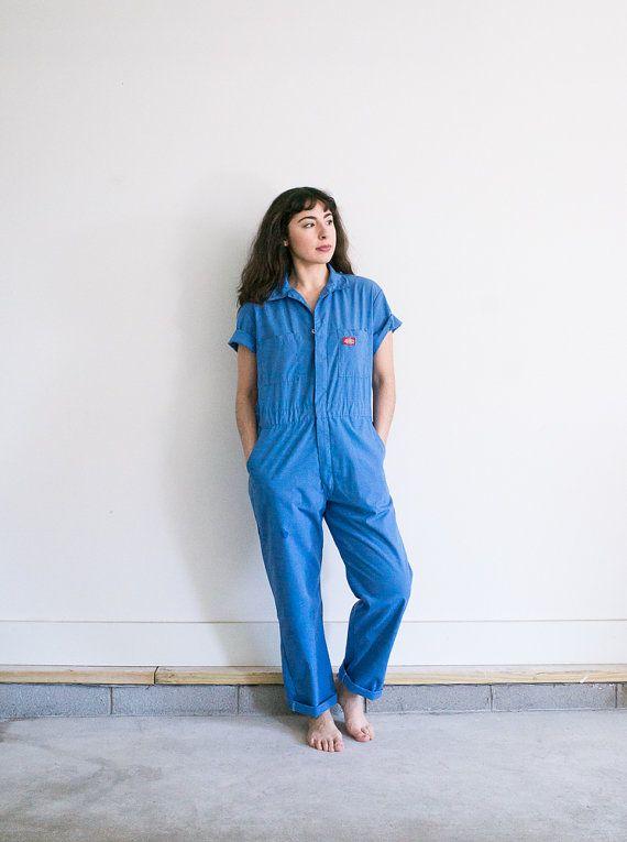 1a5c087272c Blue Workwear Jumpsuit   Unisex Cotton Jumpsuit   Vintage Dickies ...