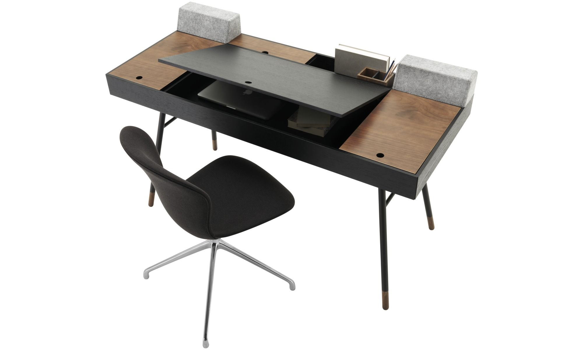 Офисные столы темного цвета