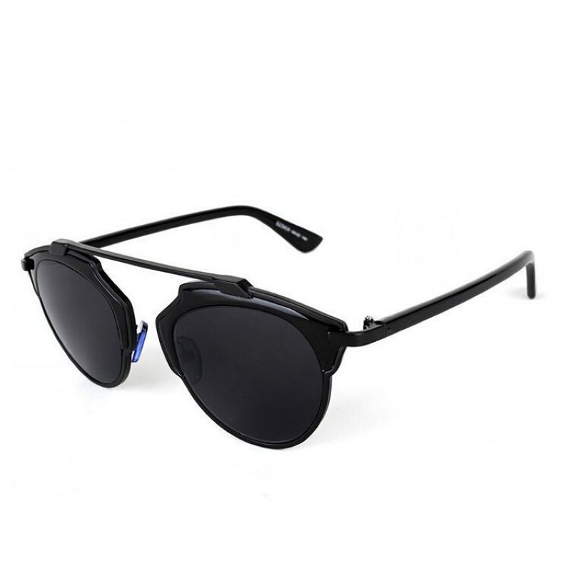 Vintage Sunglasses Metal Browline Black Frame Grey Lens | Sunglass ...