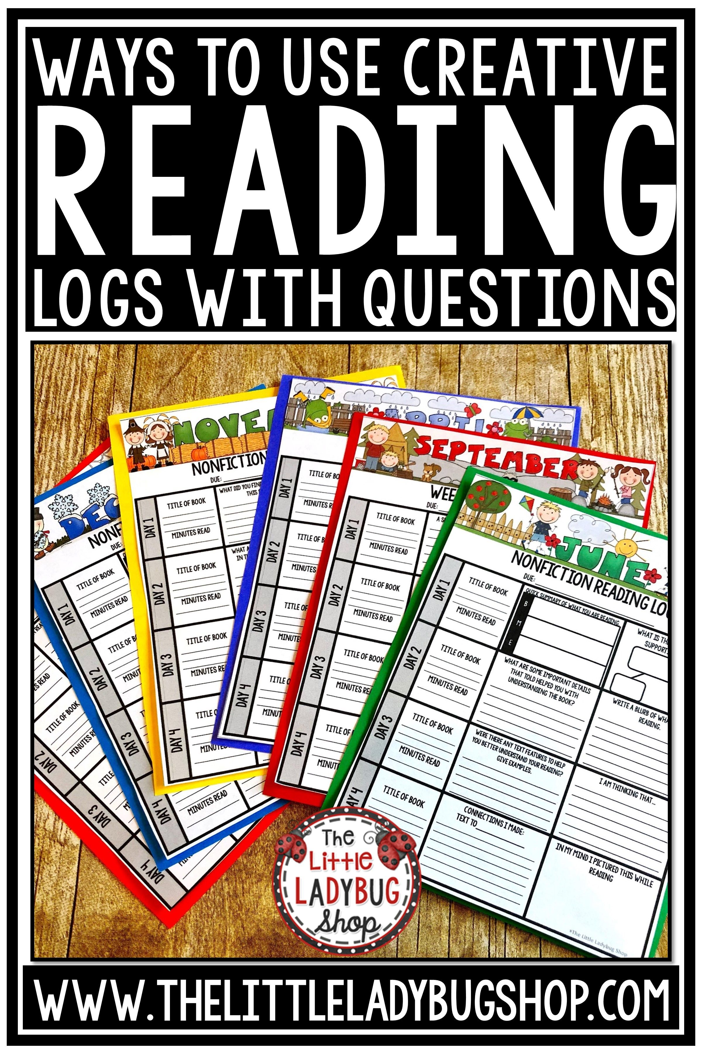 Independent Reading Logs For Homework Reading Response