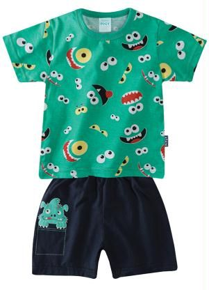 6945f68d9f Conjunto Pijama Infantil Menino Kyly Verde tam 1 - Posthaus 39