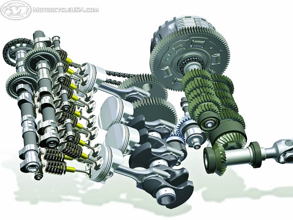 Here S A Look At The Vital Internals Of K1200s Motor And Tranny 2005 Bmw R1200gs Engine Diagram View 16 Valves Dohc Actuating Rocker Arms Four High Compression Pistons Slick