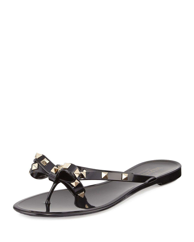 buy online b004f 1e37f ... Sandals Brown multi in Brown  17efed980cbea Valentino Garavani Rockstud  PVC Thong Sandal  e68feeca62203 Shop All Women s Designer Shoes ...