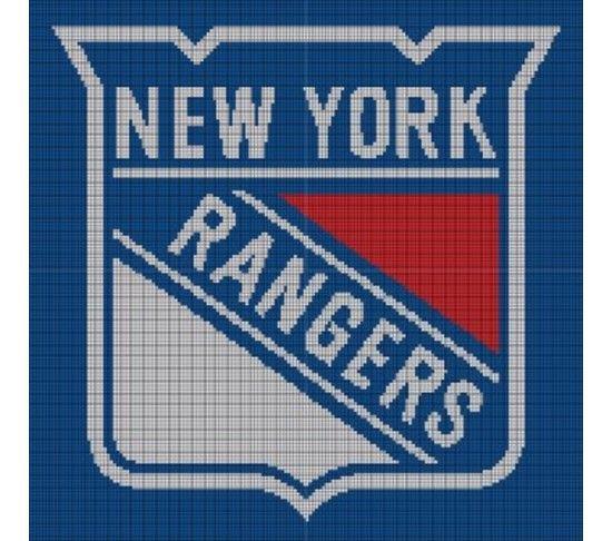 05c379cba New York Rangers Crochet Pattern Afghan Graph
