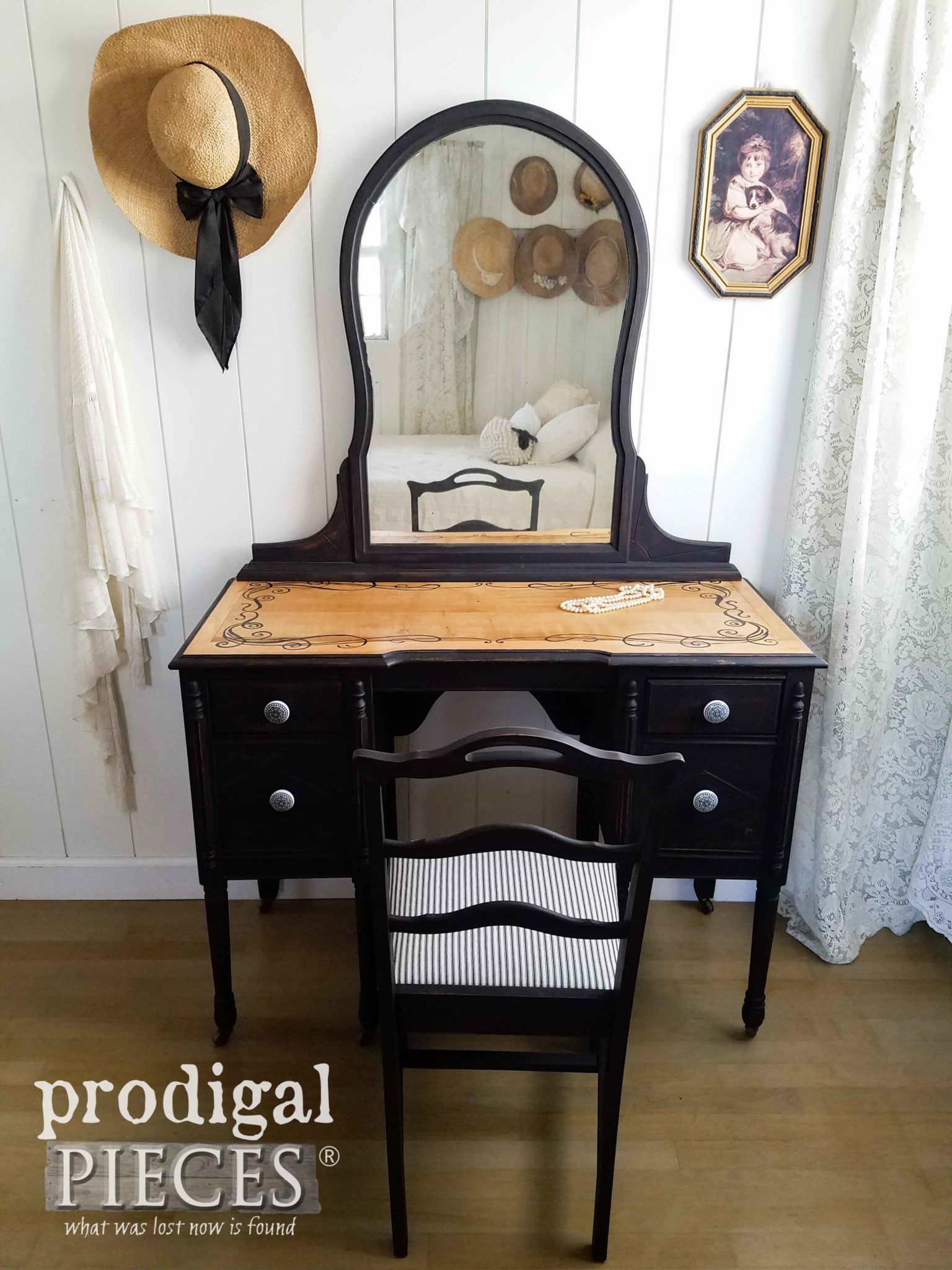 Black antique vanity rustic u refined restore furniture