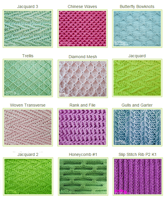 Slipped Stitch Patterns Knitting Stitches And Patterns Pinterest