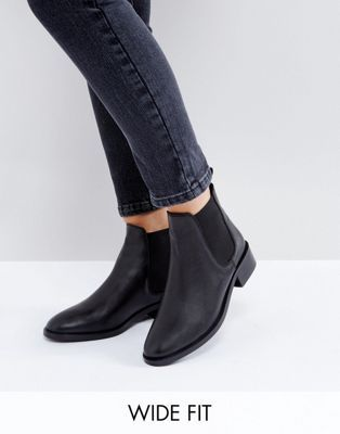 Women Leather Mid Low Flat Block Heel Booties Tassels Bowknot Chelsea Ankle Boots Shoes (US:6 Black)