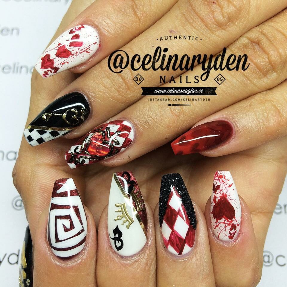Queen of hearts by Celina Rydén | Fall/winter nails | Pinterest ...