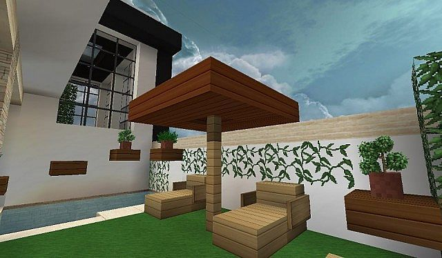 modern house with style minecraft build 5 - minecraft house design