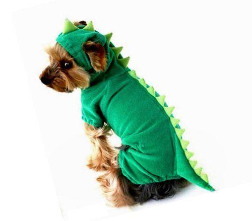 Arjosa Dogs Cat Pets Jumpsuit Crocodile Clothes Godzilla Apparel