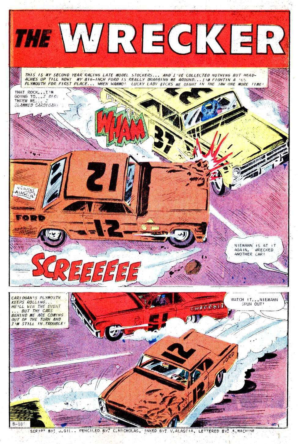Comic Book Cover For Hot Rods And Racing Cars #85