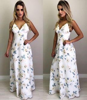 52f1963e25 💙✨ - • Vestido Longo Marisa Estampado (P