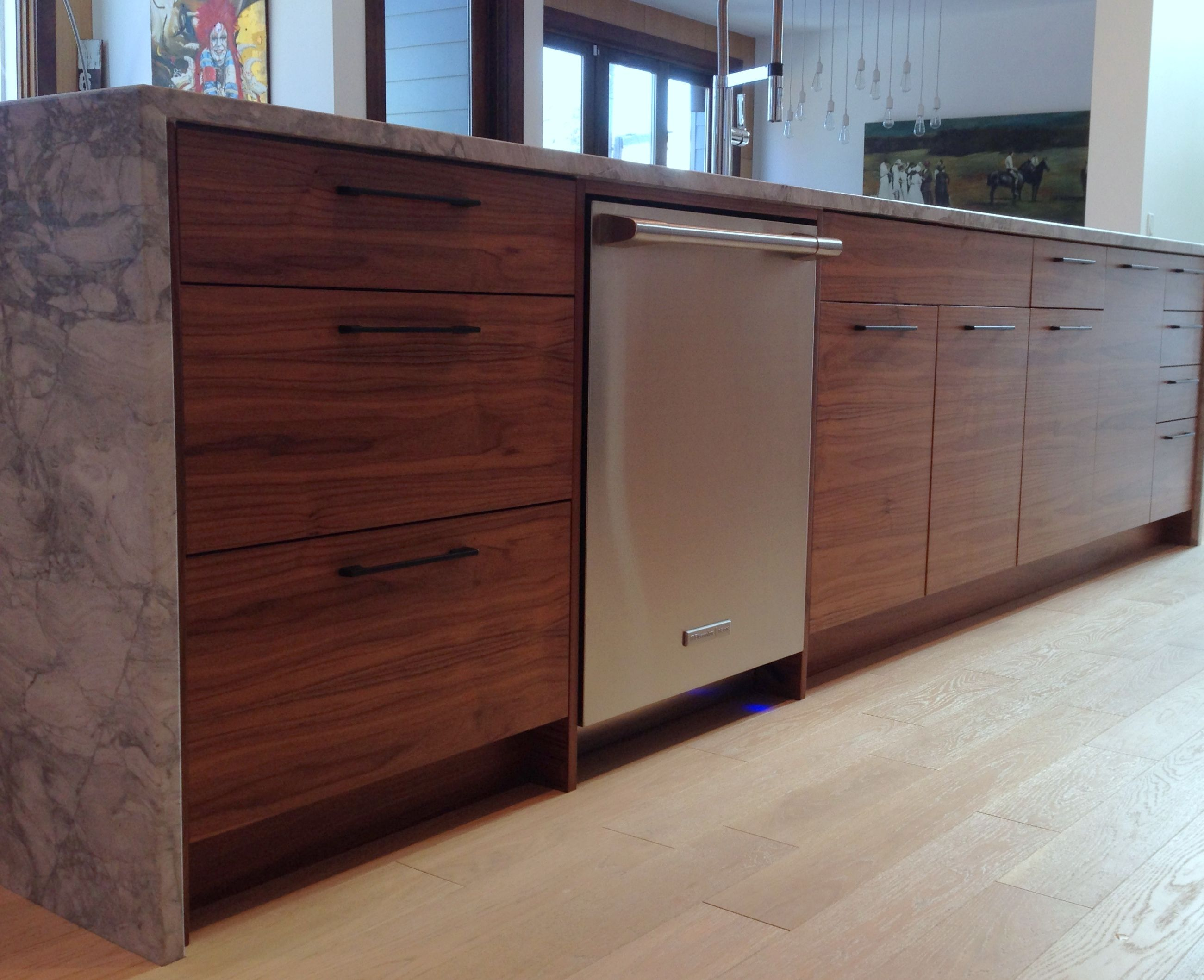 Best Ikea® Kitchen With Semihandmade Flatsawn Walnut Fronts 400 x 300