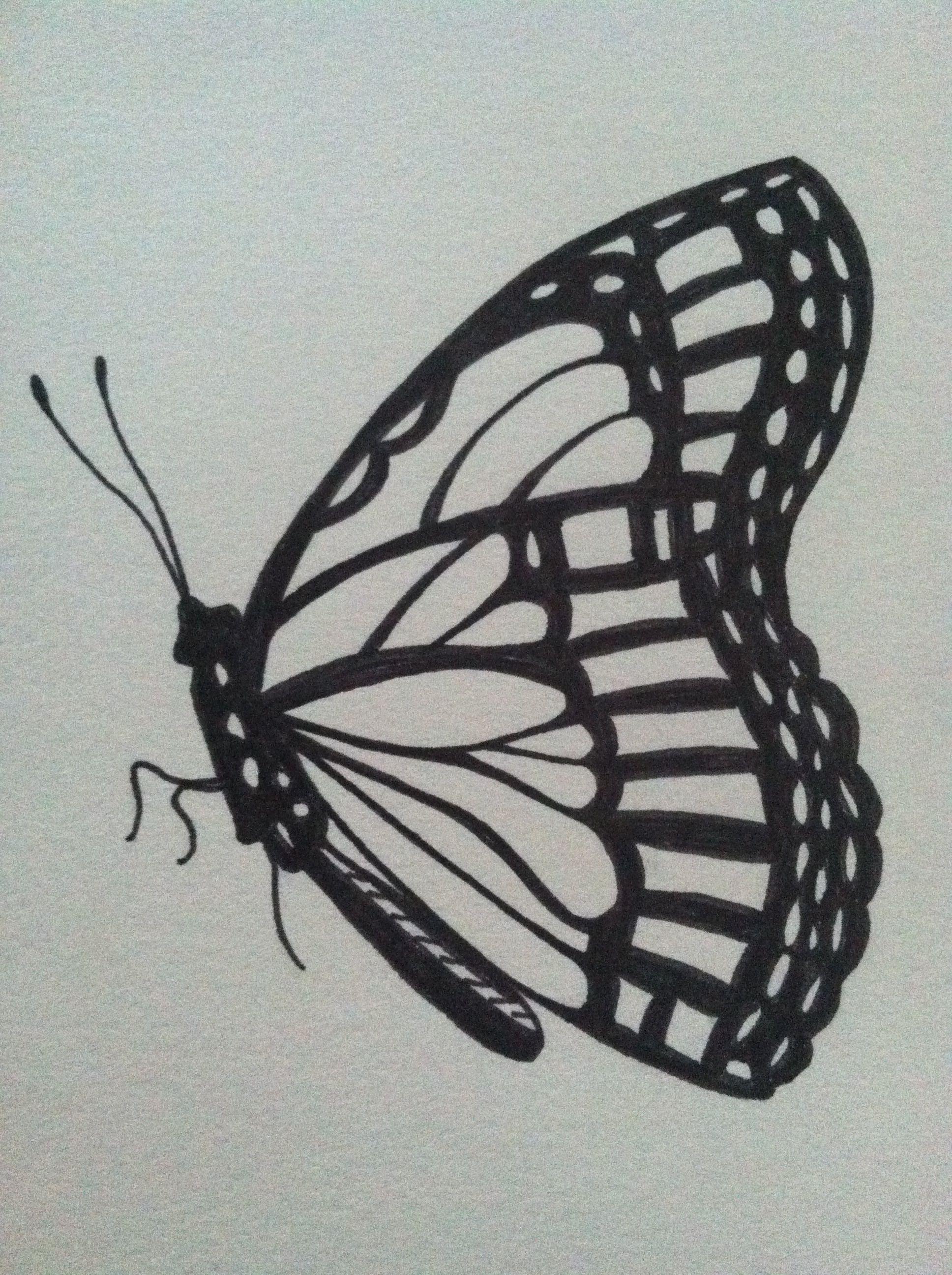 monarch butterfly ink drawing ไอเด ยสร างแรงบ นดาลใจ pinterest