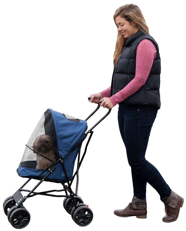 Pet Gear Ultra Lite Travel Stroller, Compact, Large Wheels