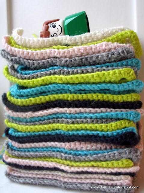 Crochet grannies in kauni #tichtach