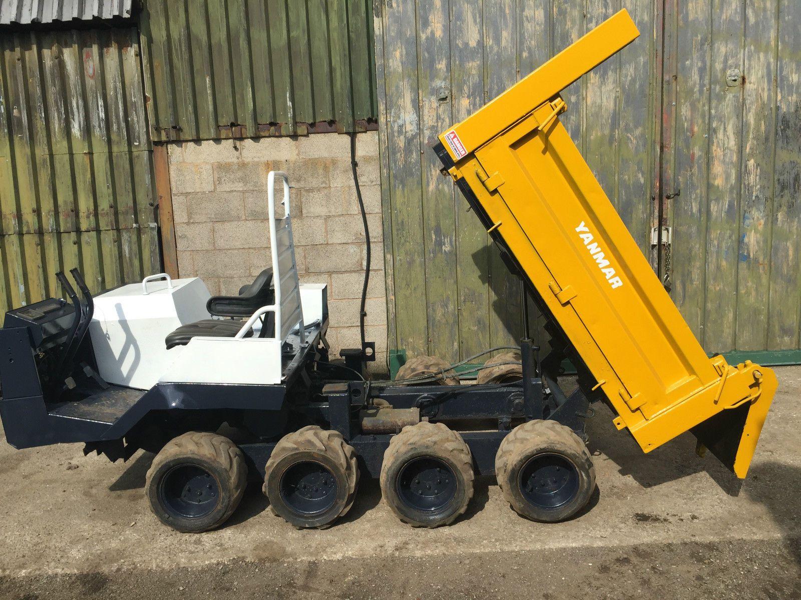 Yanmar Tractor 2 Wheel : Yanmar c w wheel drive ride on ton dumper atv sit