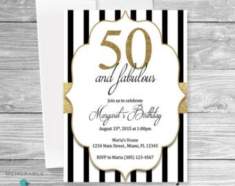 50th Birthday Invitation For Women 50 And By KidsPartyPrintables