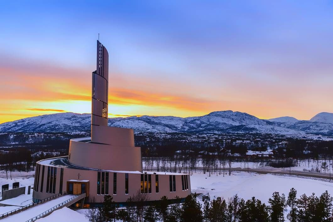 Northern Lights Cathedral in Alta Norway [1060x707] [OS] via Classy Bro