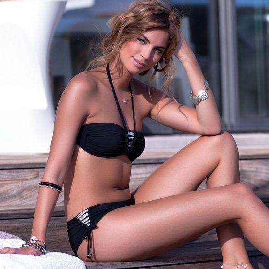 f06632630f8 Haut de maillot de bain Livia Bandeau Fantasia Carolie Noir
